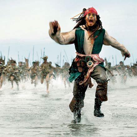 This is a running pirate...